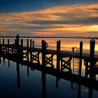 Dawn On The Outer Banks Docks by Eric Albright Photography
