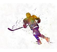 Skater with stick in watercolor Photographic Print