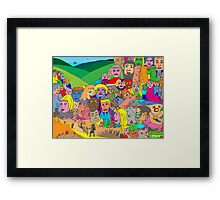 Peoplescape Framed Print