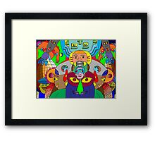 Alien Invasion Framed Print