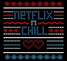 Netflix and Chill Ugly Sweater Vintage Style by Schlogger