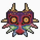 """Pixel """"Majora's Mask"""" - Legend Of Zelda by PixelBlock"""