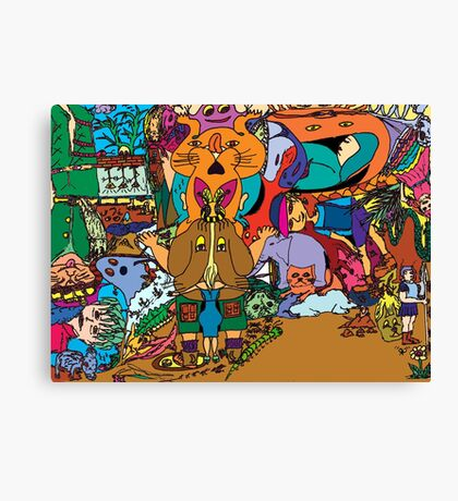 Puss-in-boots Canvas Print