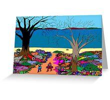 Gnomonic Landscape Greeting Card