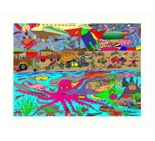 Air, Land and Sea Art Print