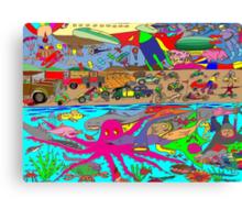 Air, Land and Sea Canvas Print