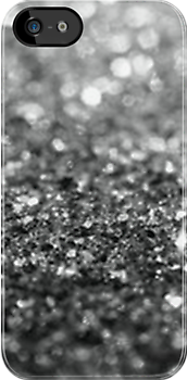 Abstract Silver Glitter - Iphone case  by sullat04