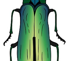 Green jewel beetle by stasia-ch