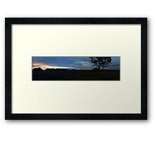 Evening at the farm Framed Print