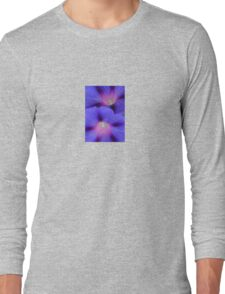 Purple and Pink Colored Morning Glory Flowers Closeup Long Sleeve T-Shirt