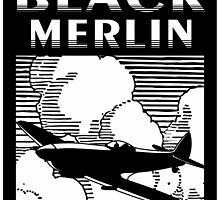 The Black Merlin Spitfire by rustyredbubble