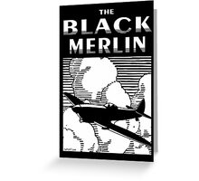 The Black Merlin Spitfire Greeting Card
