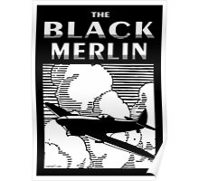 The Black Merlin Spitfire Poster