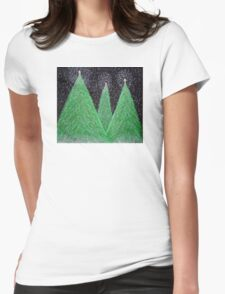 Christmas Trees Womens Fitted T-Shirt