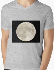 Full-moon In The Night Sky Mens V-Neck T-Shirt