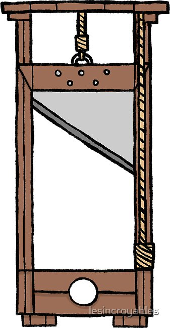 """french revolution sticker set- guillotine (plain version ..."
