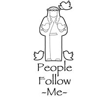 People Follow Me Photographic Print