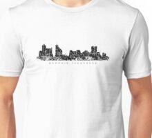 Memphis, Tennessee Skyline Vintage Black Unisex T-Shirt