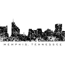 Memphis, Tennessee Skyline Vintage Black by theshirtshops