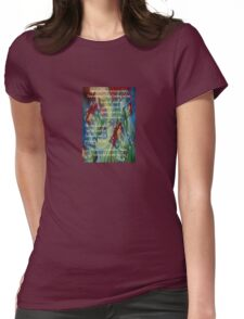 And Now I'll Look Away Poetry Greeting Womens Fitted T-Shirt