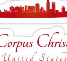 Corpus Christi skyline in red Sticker