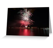 Fireworks over Greenwich Greeting Card