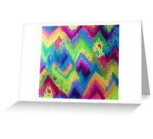 BOLD QUOTATION 2 - Colorful Bright Cheerful Fine Art Chevron Pattern Ikat Quote Modern Painting Greeting Card
