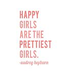 "Audrey Hepburn - ""Happy girls are the prettiest girls"" - Iphone Case by sullat04"