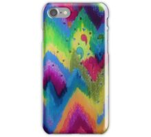 BOLD QUOTATION 2 - Colorful Bright Cheerful Fine Art Chevron Pattern Ikat Quote Modern Painting iPhone Case/Skin