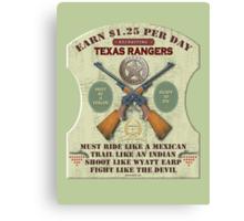 Recruiting Texas Rangers Canvas Print