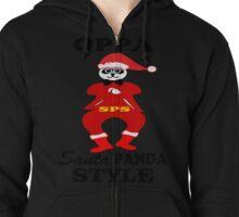 ★ټOppa Santa-Panda Style Hilarious Clothing & Stickersټ★ Zipped Hoodie