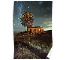 Eudunda ruin at Night Poster