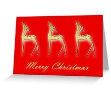 Three deers - Merry Christmas Greeting Card