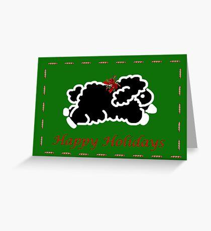 Black lamb Christmas card Greeting Card