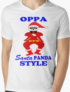 ★ټOppa Santa-Panda Style Hilarious Clothing & Stickersټ★ Mens V-Neck T-Shirt