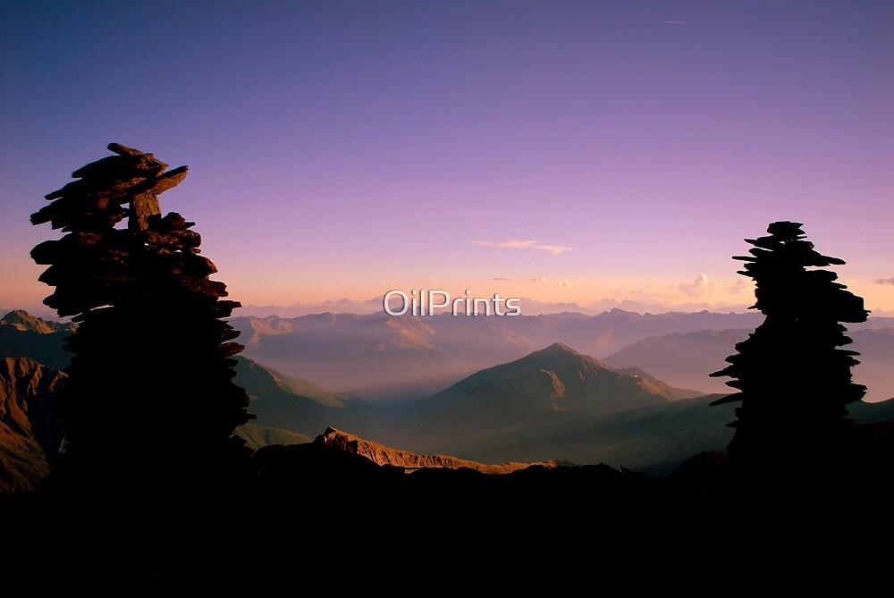 The Cairns of den Alpen by OilPrints