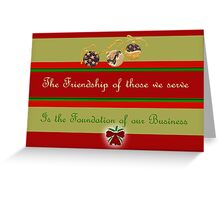 Christmas card for customers from business - baubles Greeting Card