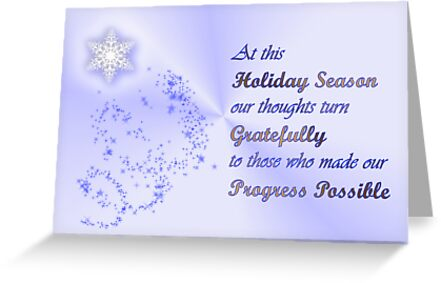 Christmas card for customers from business - snowflakes by Cheryl Hall