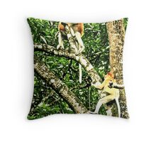 CRADLE IN THE CANOPY Throw Pillow