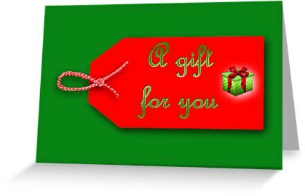 Christmas gift tag by Cheryl Hall