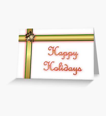 Happy holidays ribbon Greeting Card