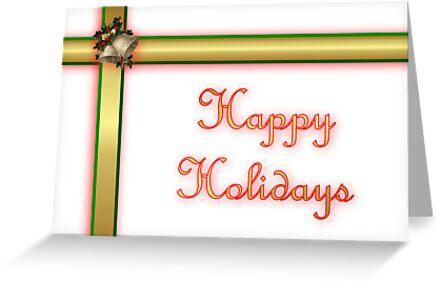 Happy holidays ribbon by Cheryl Hall