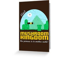 Visit Mushroom Kingdom Greeting Card