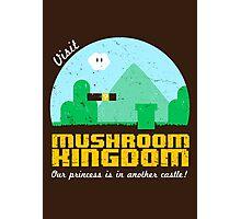 Visit Mushroom Kingdom Photographic Print