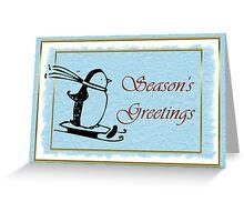 Seasoon's Greetings Christmas with penguin Greeting Card
