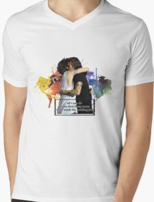 watercolour splash design Mens V-Neck T-Shirt