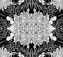 Flowers black&white by Evgenia Chuvardina