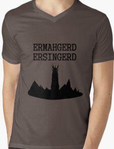 ERMAHGERD ERSINGERD Mens V-Neck T-Shirt