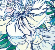 White peonies Sticker