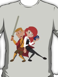 Kim & Ron Cosplay Amy & Rory T-Shirt